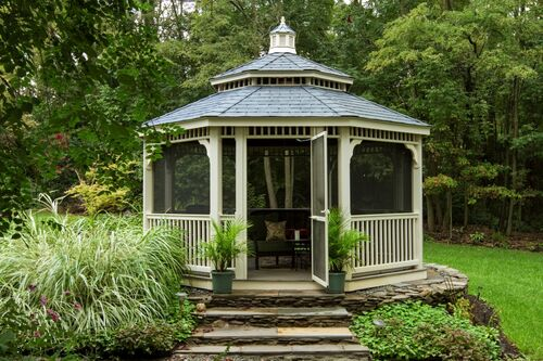 16-Oct-Country-Style-Ivory-Vinyl-Gazebo-5x5-Posts-Pagoda-Roof-Cupola-Medium