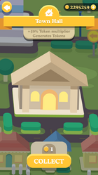 Town Hall generates tokens