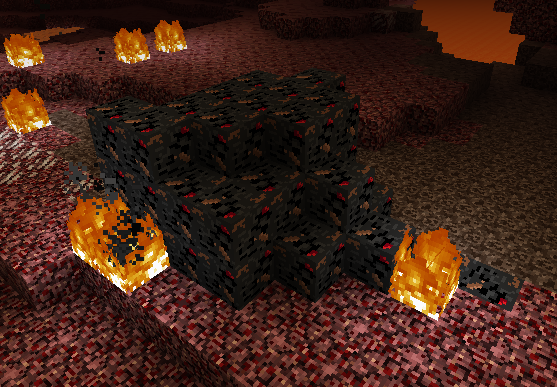 A large vain of garbage in the nether