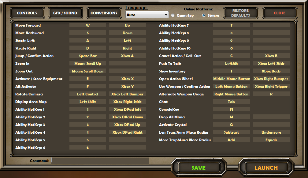 Controls and Keybindings for PC | Dungeon Defenders Wiki