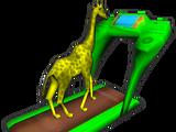 Giraffe on Treadmill