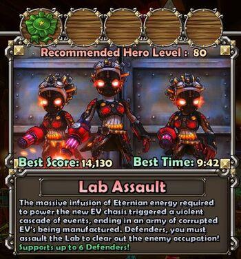 Lab Assault summary