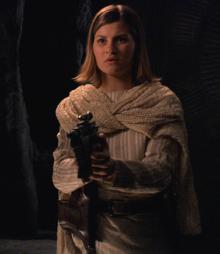 Sabiha with gun 2003