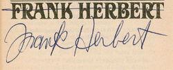 Frank Herbert autograph