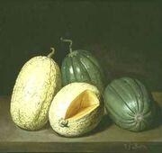 Stilleben mit Melonen