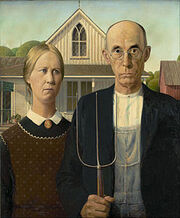 240px-Grant Wood - American Gothic - Google Art Project