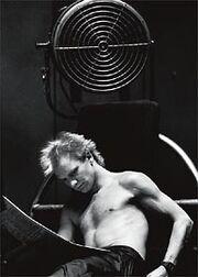 Sting half naked resting