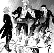 Ryuu kicks Mord, Guile and Scott - Episode Ryuu Manga