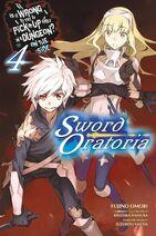 Sword Oratoria Light Novel Volume 4 Eng Cover