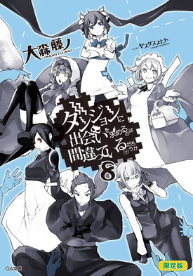 DanMachi Light Novel Volume 8 LE Cover