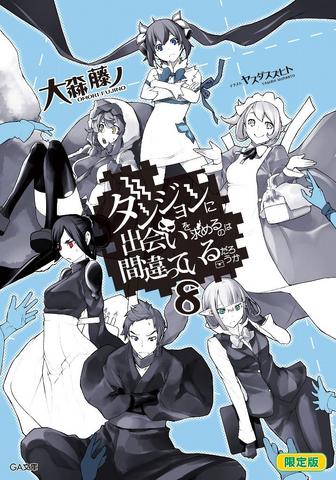 File:DanMachi Light Novel Volume 8 LE Cover.png