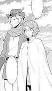 Hermes and Asfi - DanMachi Manga 1