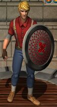 Ruby Round Shield