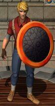 Fiery Round Shield