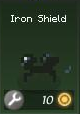 Item d iron shield green