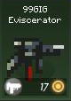 Item w 99GIG eviscerator green