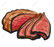 Roasted rat meat image