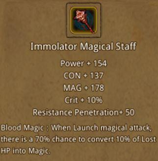 Immolator Magical Staff | Dungeon Survivor II Wiki | FANDOM
