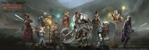Forgotten realms characters by conceptopolis