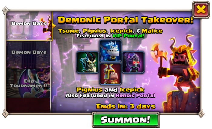 Demonic Portal Takeover
