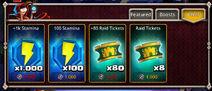 Aether Shop tab items