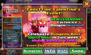 Frostfire Valentine event