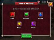 Rune Mania select element