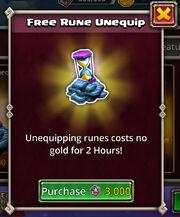 Free Rune Unequip boost