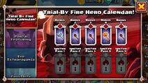 Trial By Fire Hero Calendar