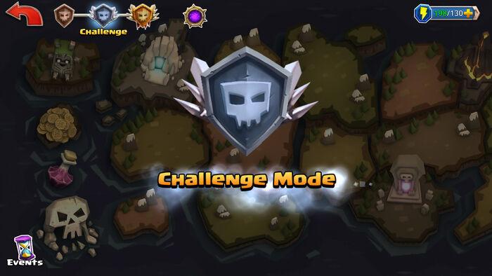 Challenge Mode enter map
