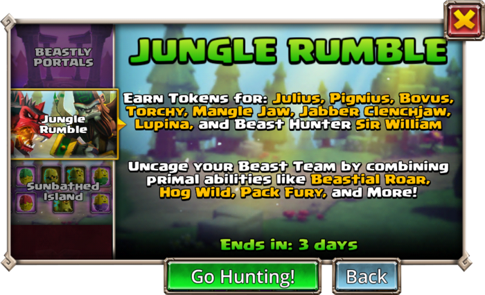 Jungle Rumble cover info