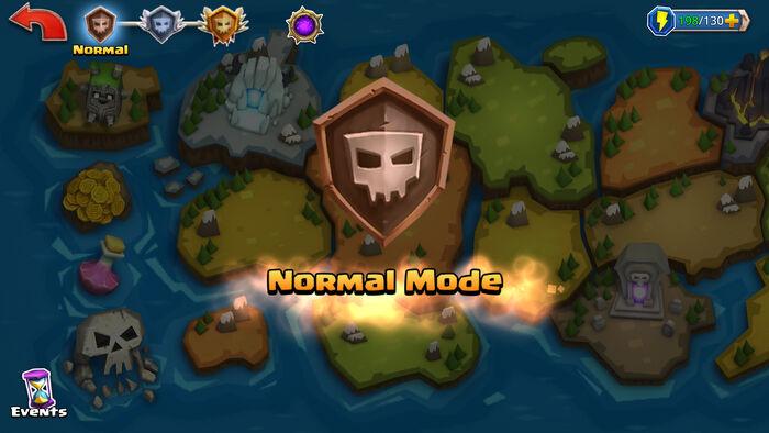 Normal Mode enter map