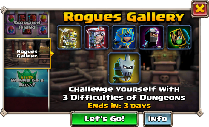 Rogues Gallery Event