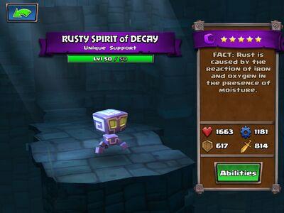 Rusty Spirit of Decay