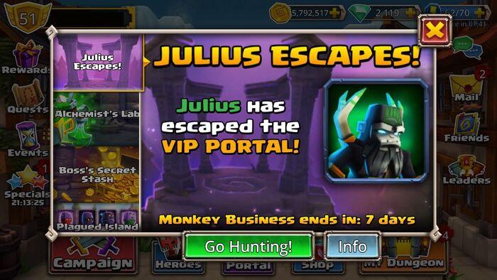 Julius Escapes