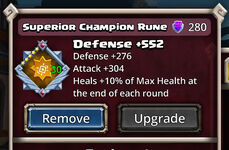 Champion Rune Superior Light (Healer)