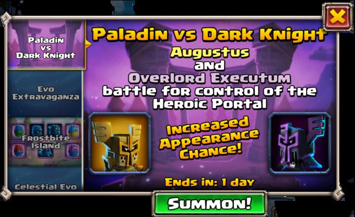 Paladin vs Dark Knight