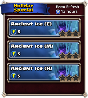 Ancient Ice Levels