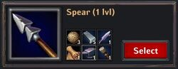 Recipe - Spear 1lvl