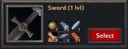 Recipe - Sword 1lvl