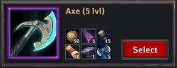 Recipe - Axe 5lvl