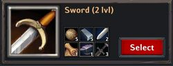 Recipe - Sword 2lvl