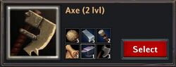 Recipe - Axe 2lvl