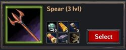 Recipe - Spear 3lvl