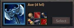 Recipe - Axe 4lvl