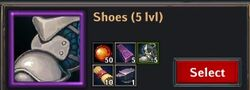 Recipe - Shoes 5lvl