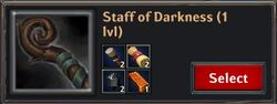 Recipe - Staff of Darkness 1lvl