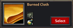 Burned Cloth