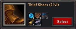 Recipe - Thief Shoes 2lvl