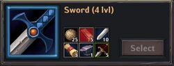 Recipe - Sword 4lvl